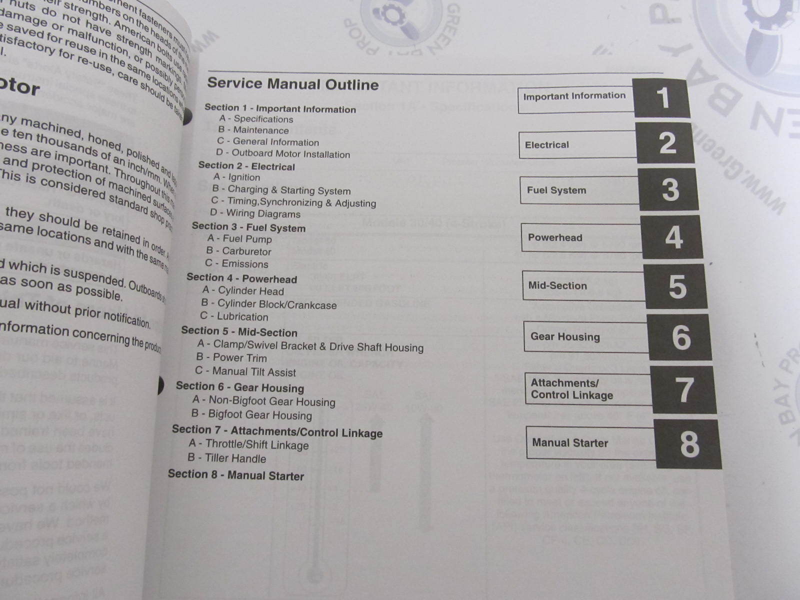 ... 90-857046 Mercury Mariner Outboard Service Manual 30/40 HP 4-Stroke ...
