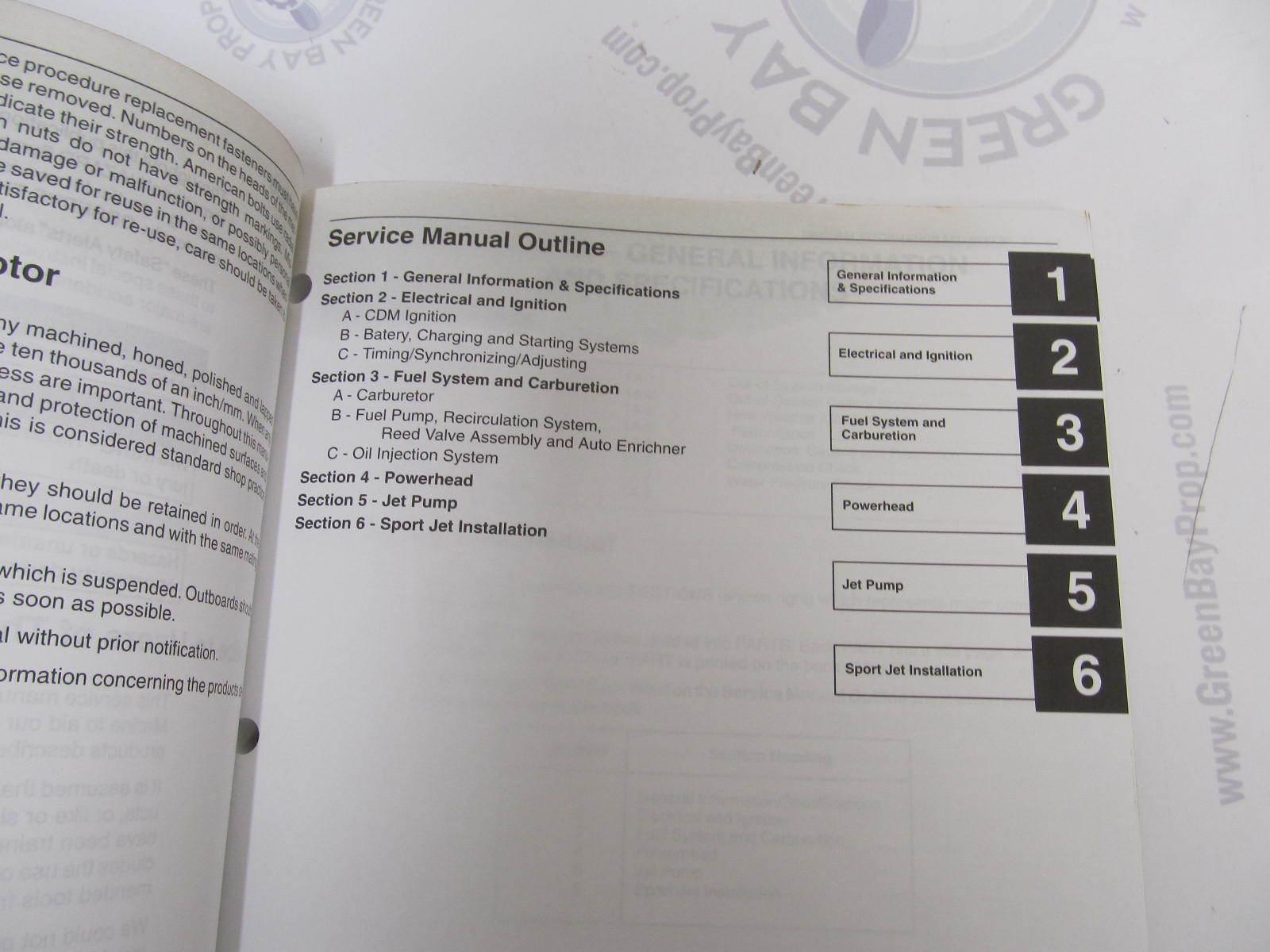... 90-858804 Mercury Marine Outboard Service Manual Sport Jet 120XR2 ...