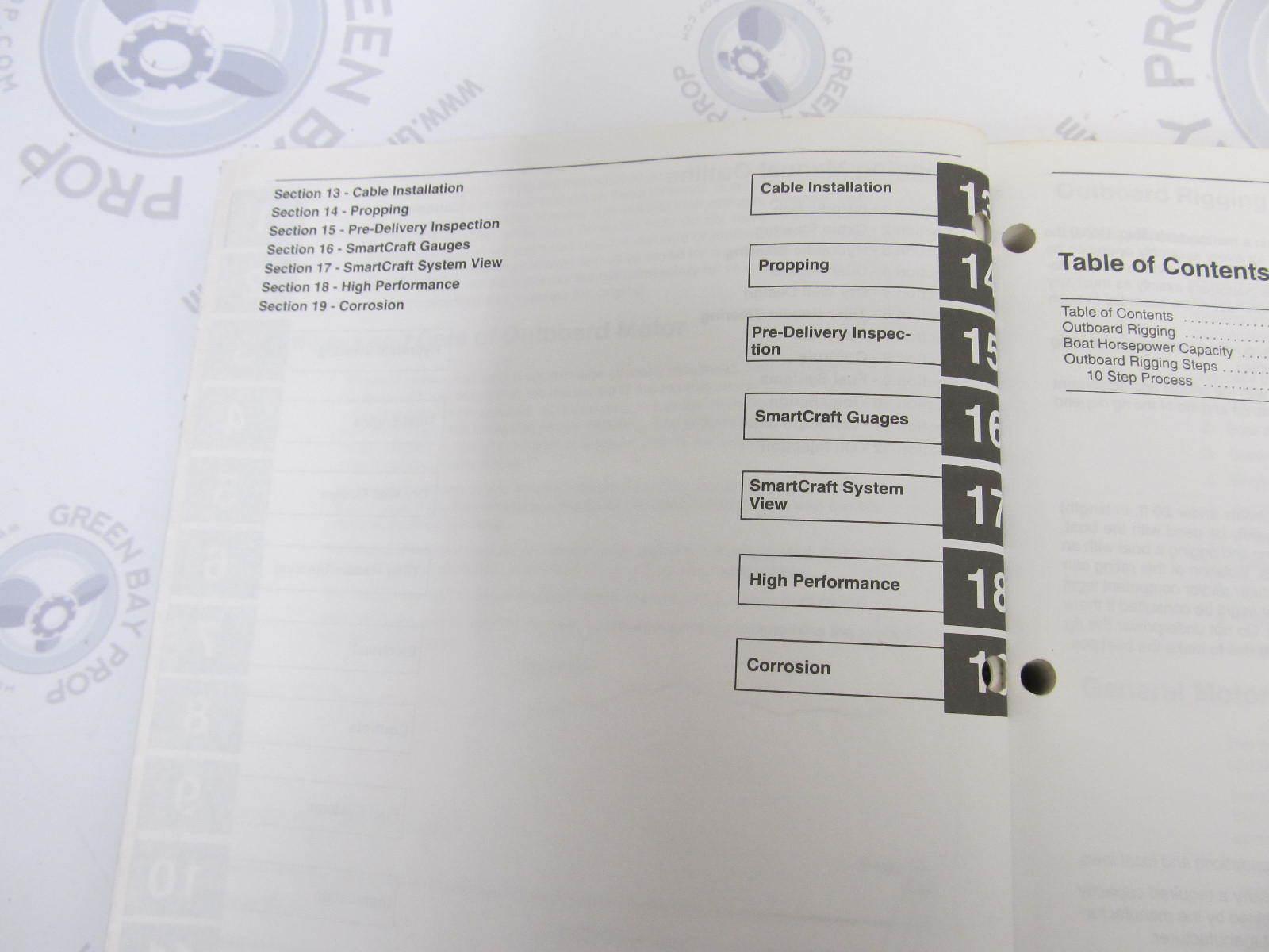 90-881033R2 Mercury Outboard Rigging Technicians Guide Manual 3rd Edition