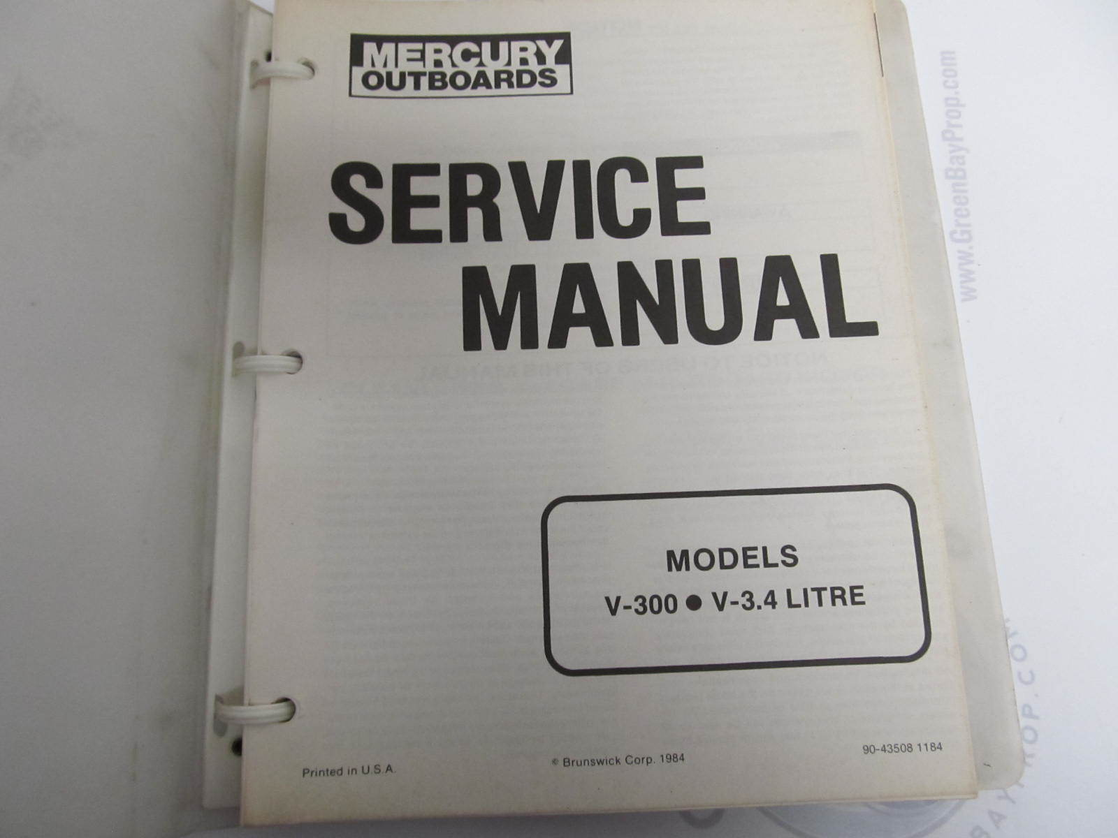 90-43508 Mercury Outboard Service Manual V-300, ...