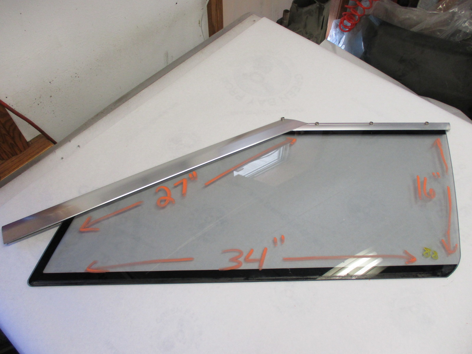 "Bayliner Capri Left Port Side Driver Forward Windshield 34"" Window Glass"