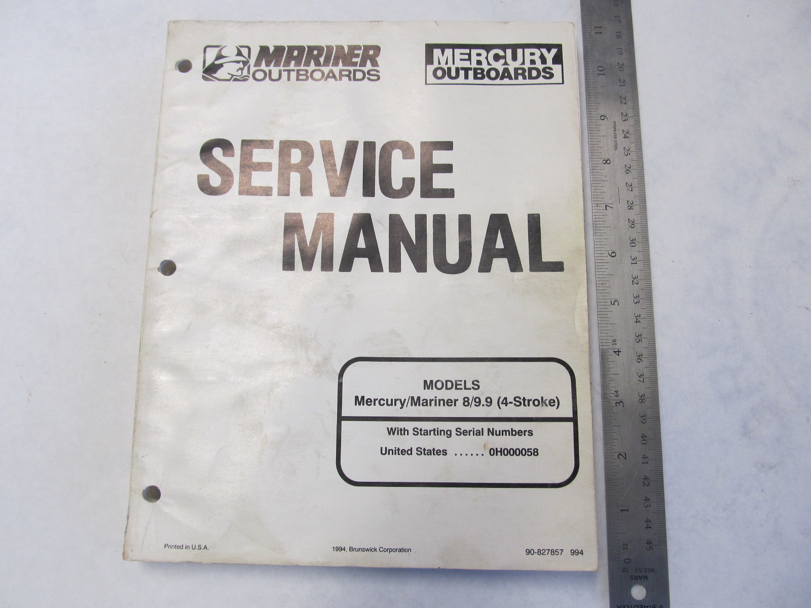 1994 Mercury Mariner Outboard Service Manual 8-9.9 HP 4-Stroke