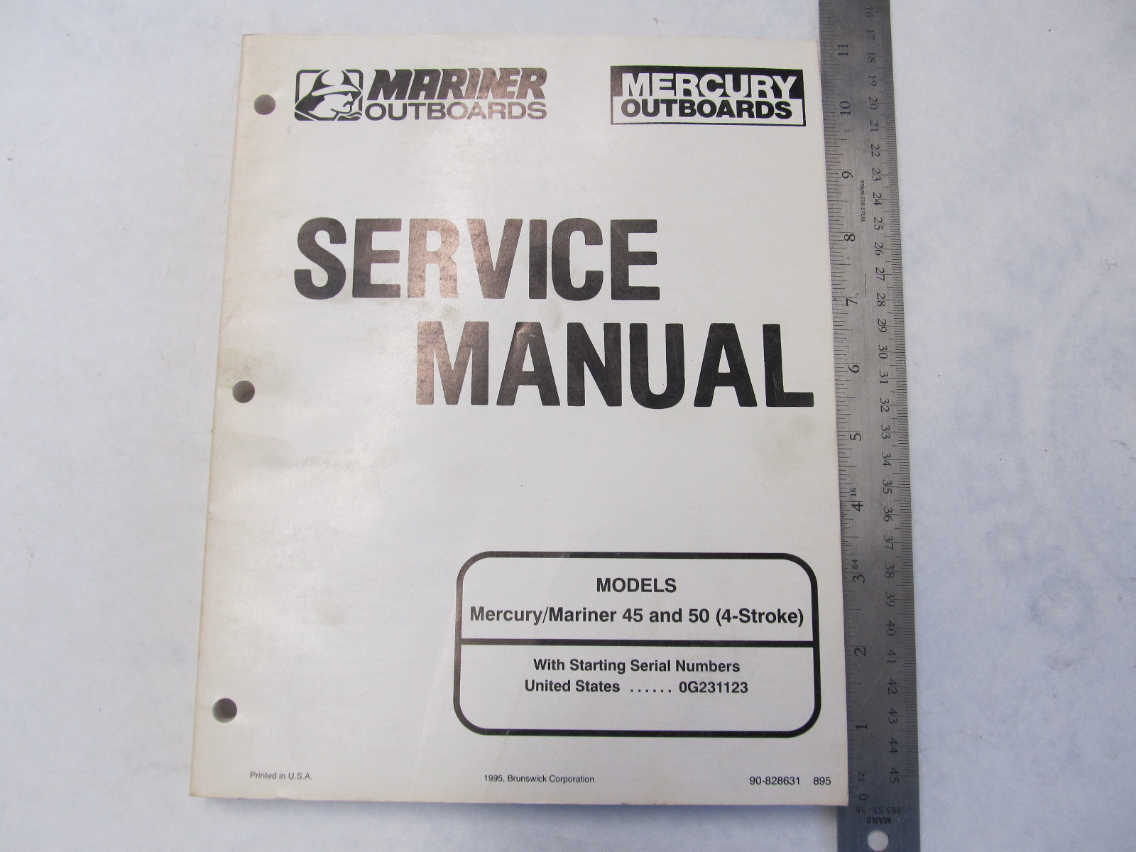 1995 Mercury Mariner Outboard Service Manual 45-50 HP 4-Stroke | Green Bay  Propeller & Marine LLC