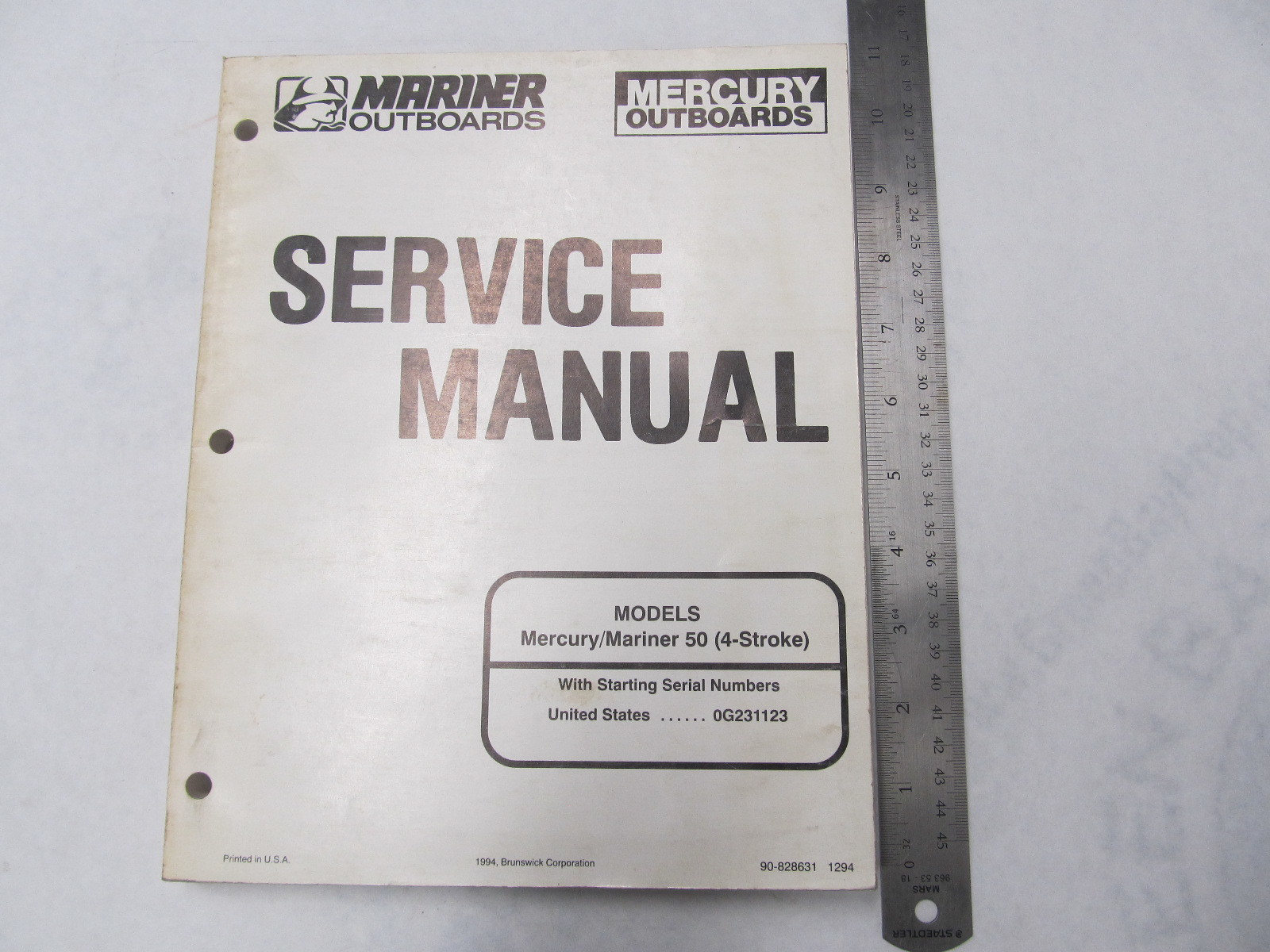 1994 mercury mariner outboard service manual 50 hp 4 stroke ebay rh ebay com mercury 50 hp outboard repair manual 1983 mercury 50 hp outboard service manual