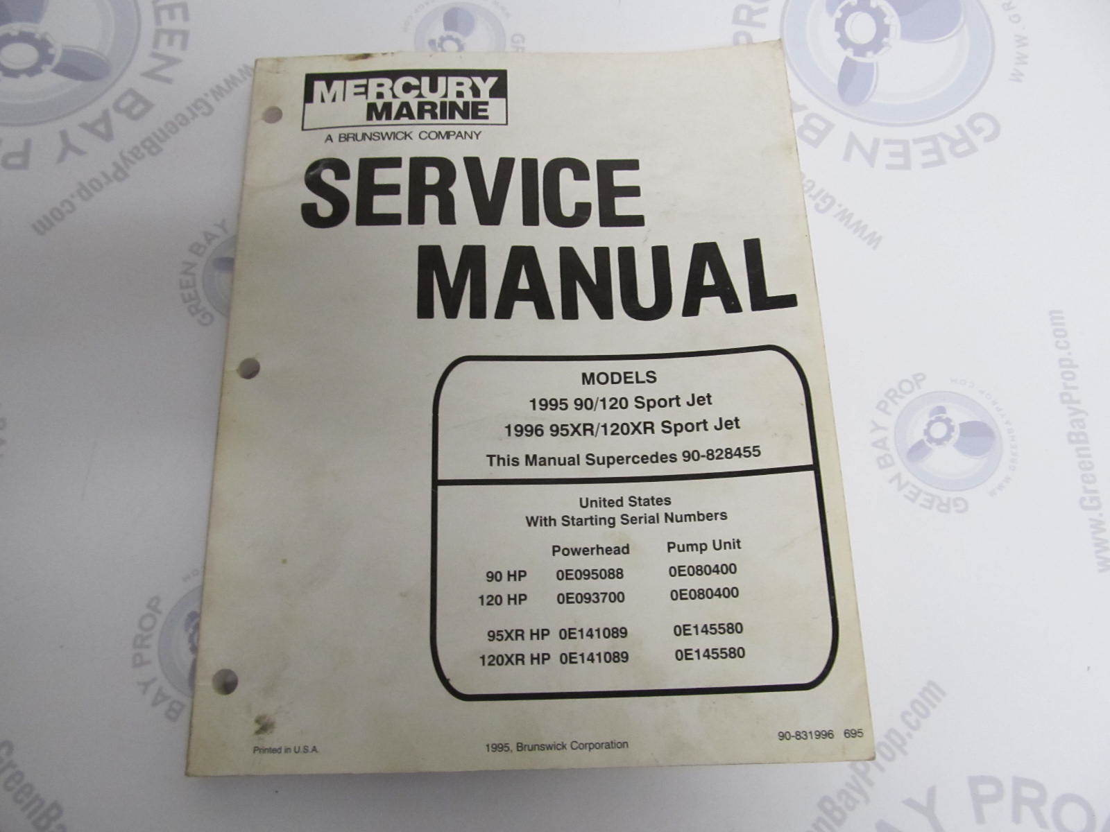 1995 Mercury Mariner Outboard Service Manual 90 95 120 ...