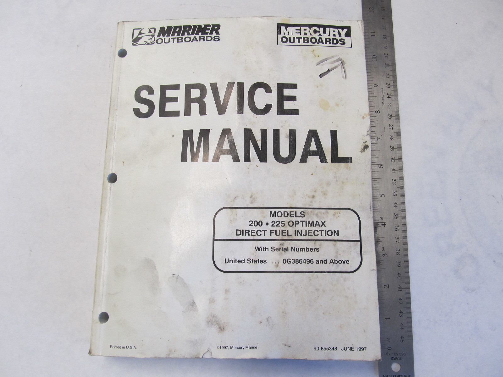 1997 Mercury Mariner Outboard Service Manual 200 225 Optimax