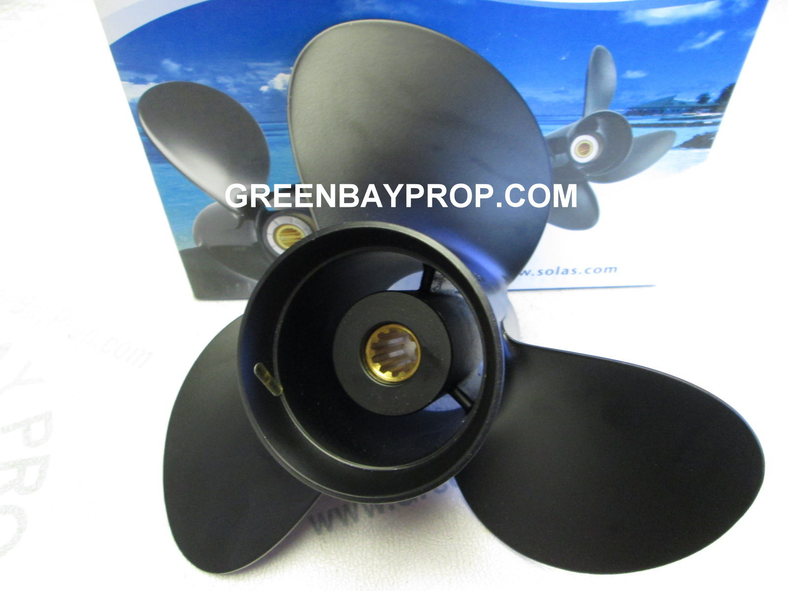 Details about 10 3 x 12 Pitch Prop For 20-30 HP Suzuki Outboards