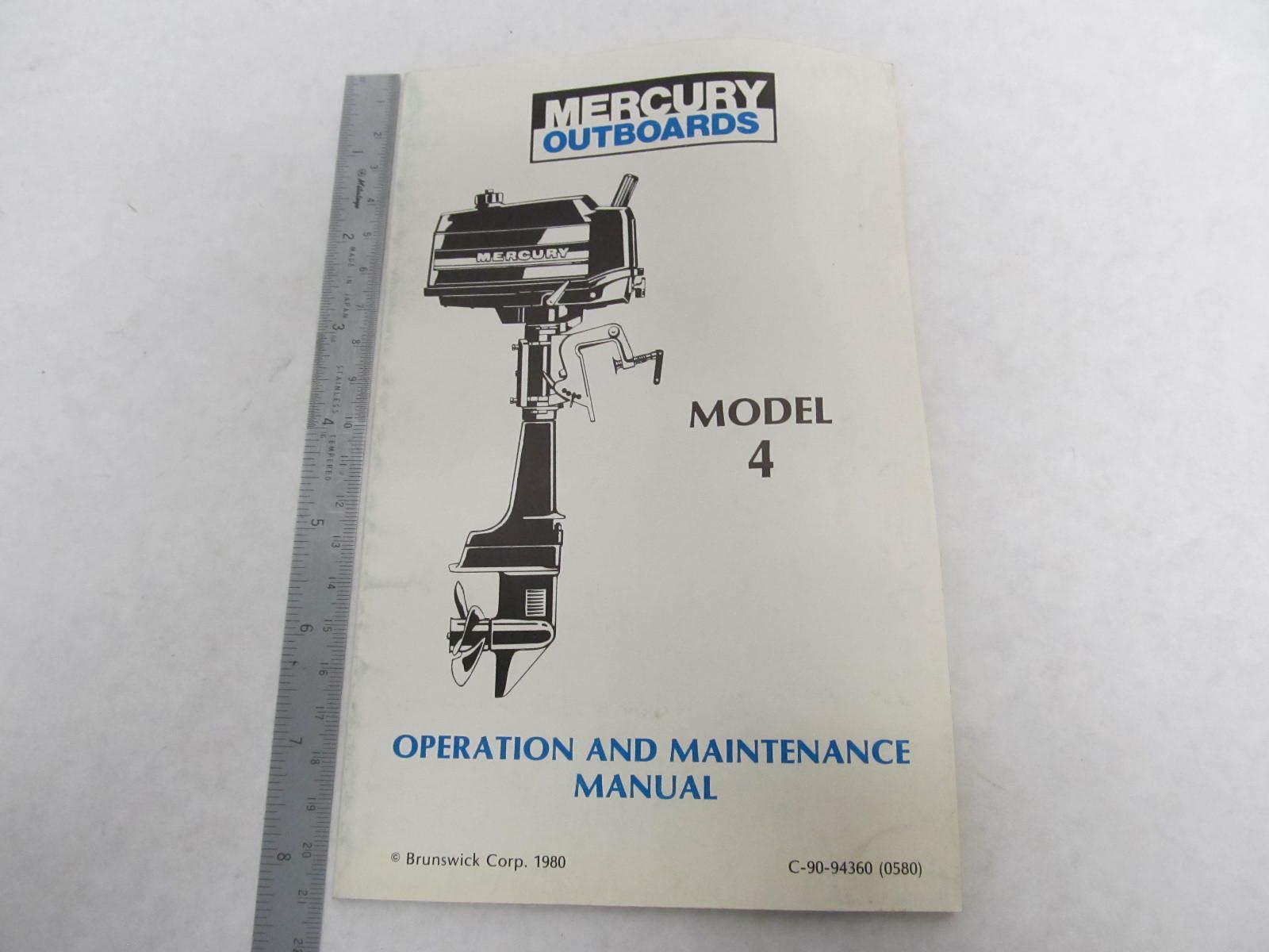 Mercury Outboard Operation & Maintenance Manual Model ...
