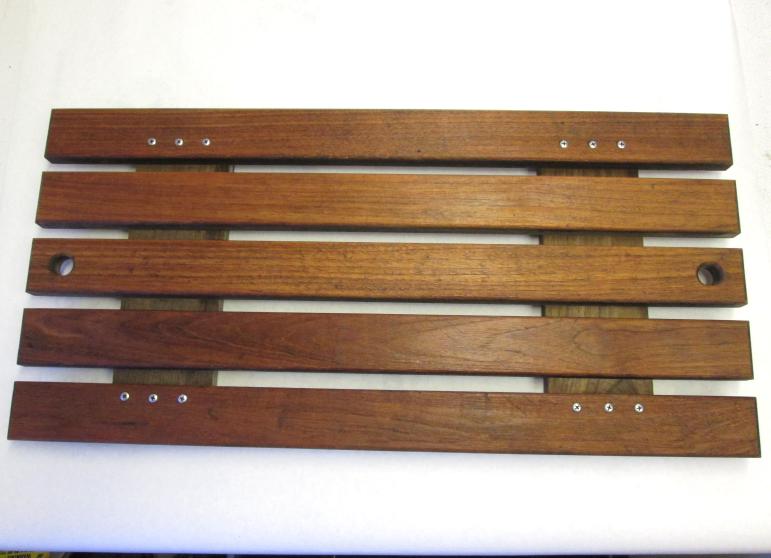 "Four Winns Boat Teak Wood Ski Deck Hatch Cover 31"" by 15"""
