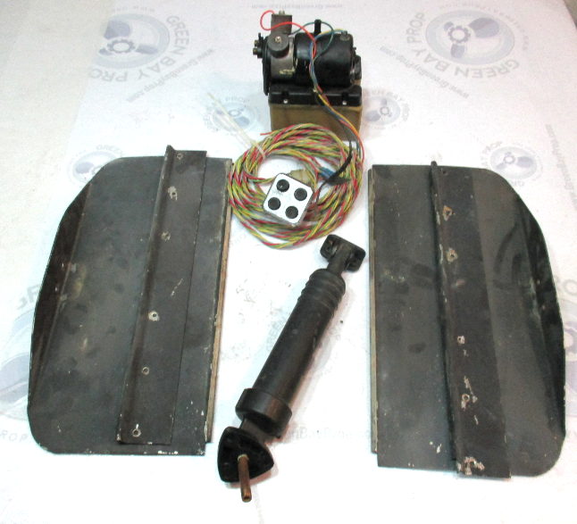 "Bennett V351 Marine Boat 18"" x 8 3/4"" Hydraulic Stainless Trim Tabs & Pump"