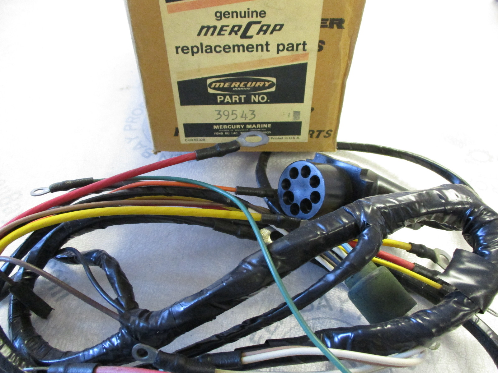 39543 Mercury MerCap Mercruiser Stern Drive Engine Wire Harness 39543A1 ...