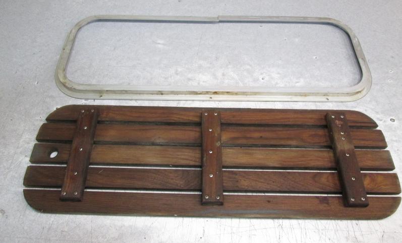Teak Wood Boat Floor Deck Ski Hatch Cover & Aluminum Frame ...