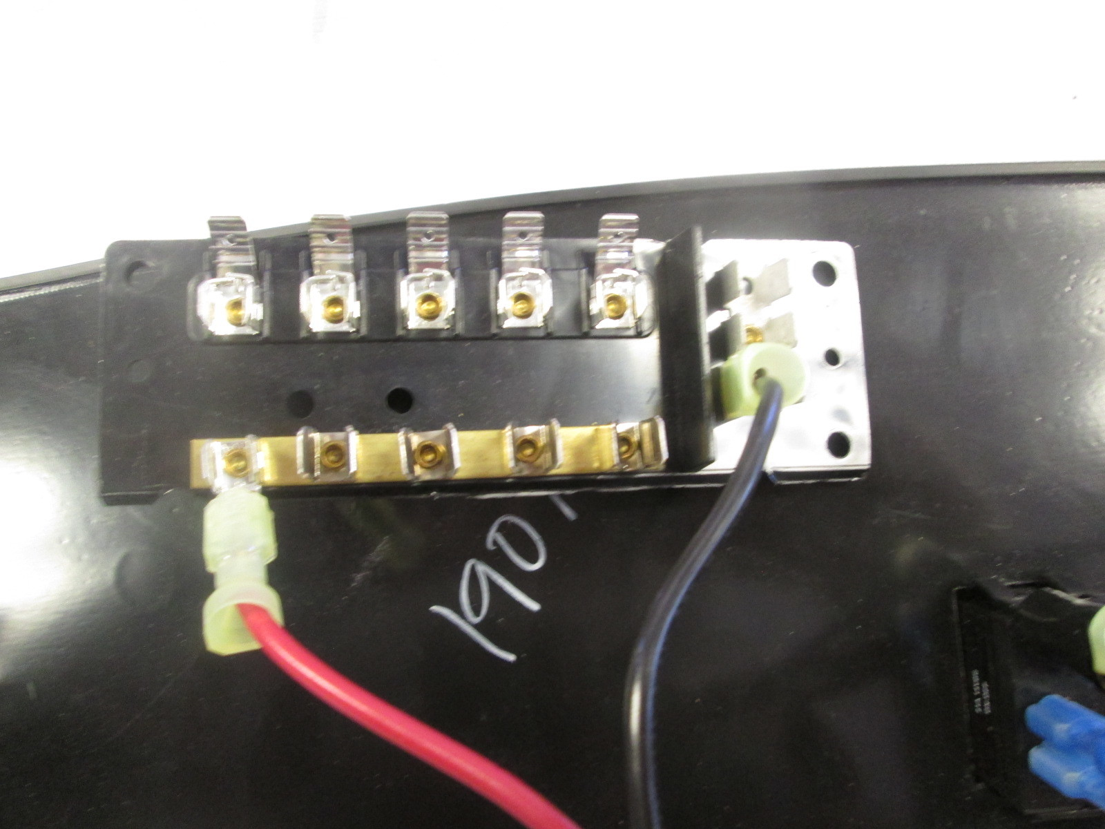 Custom Boat Accessory Dash Switch Panel With Fuse Block Gold Gray Pattern Green Bay Propeller Marine Llc