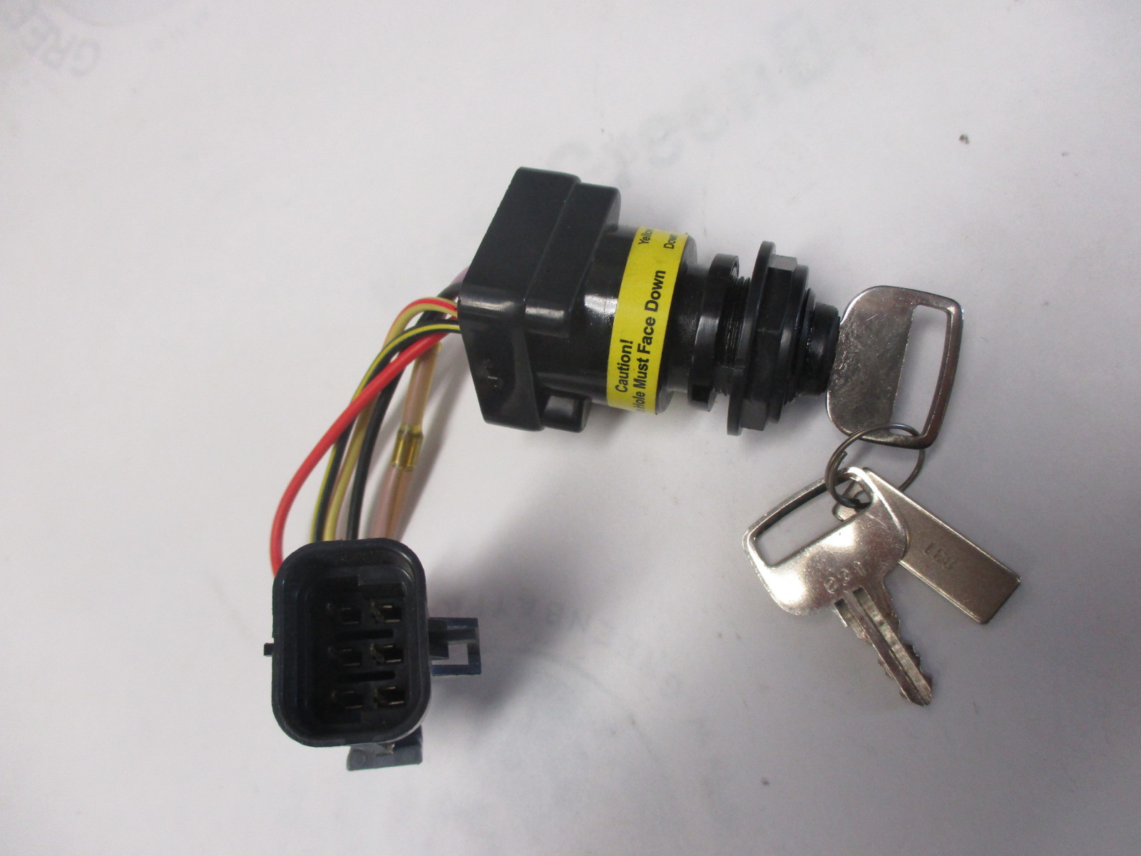 87-897716K01 Quicksilver Outboard Boat Ignition Switch and Key 2006 and Newer