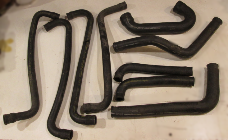 Mercruiser Water Recirculation Hoses from a 1980 898 Sterndrive