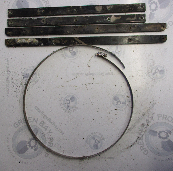 0308735 OMC Stringer Sterndrive Transom Seal Clamp & Plates Square Opening  1968