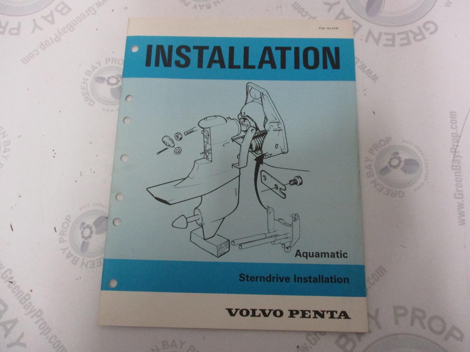 5197 Volvo Penta Installation Manual Aquamatic Sterndrive