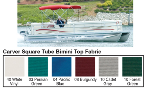 4 BOW SQUARE TUBE PONTOON TOP FABRIC FOR 48