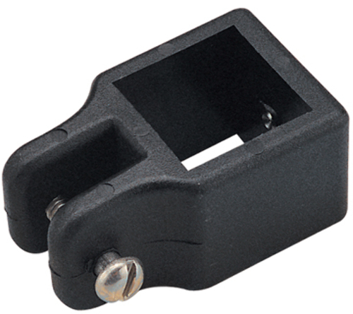 SQUARE TUBE FITTINGS-Black Top Slide for 1