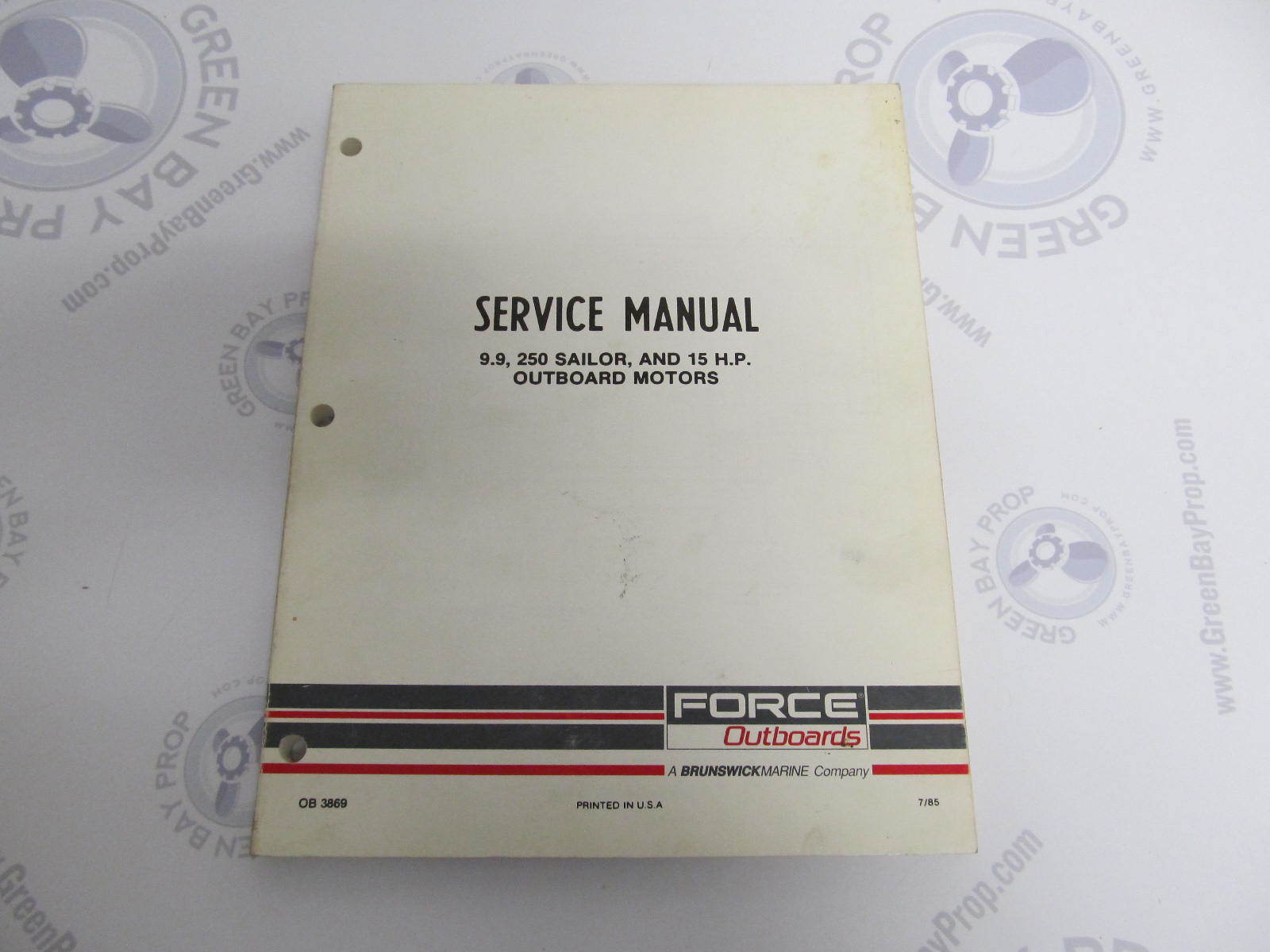 OB3869 Mercury Force Chrysler Outboard Service Manual 9.9/15 HP 250 Sailor  ...