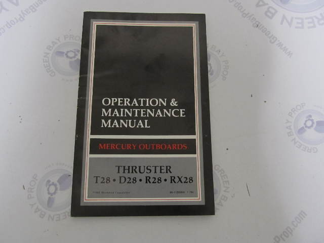 90 11293890 mercury thruster electric outboard operation rh ebay com operation and maintenance manual for electrical panel electrical operation and maintenance manual