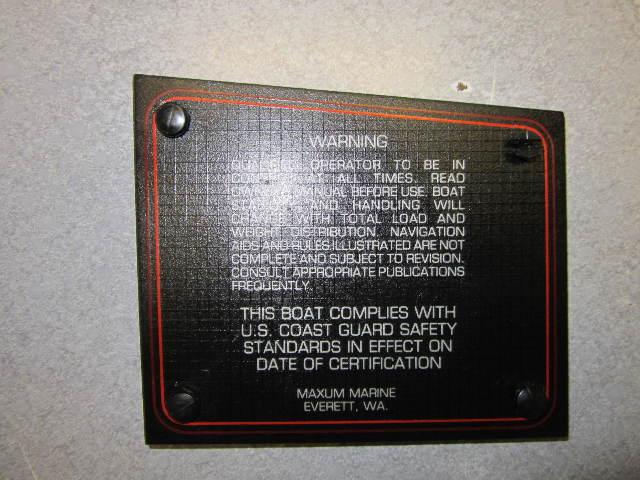 1991 Bayliner Capri Boat Warning Dash Panel