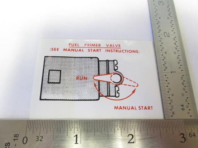 Array - 0326412 omc evinrude johnson outboard manual start sticker      rh   greenbayprop com