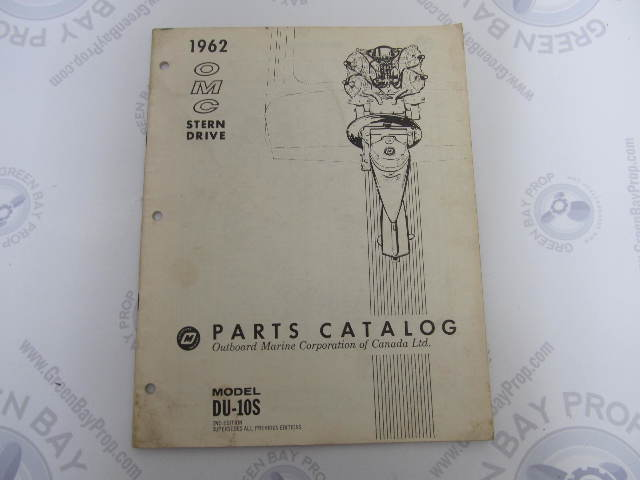 1962 OMC Stern Drive Parts Catalog 2nd Edition DU-10S