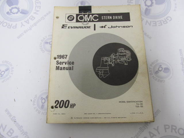 382516 omc evinrude johnson stern drive 200 hp 1967 service manual rh greenbayprop com 1980 OMC Sterndrive Tilt Motor OMC Outdrive Drawing