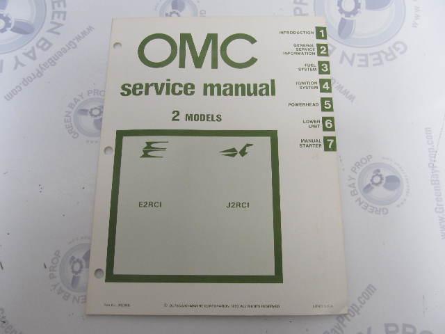 392068 OMC Evinrude Johnson 1981 Outboard Service Manual 2 HP