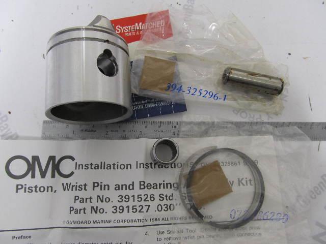 0396573 396573 OMC Evinrude Johnson 9.9 15 HP Outboard Piston Kit .030 OS