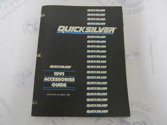 4200091 Quicksilver Mercury Marine Accessories Parts Catalog Guide 1991
