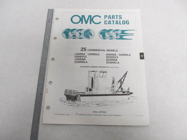 432217 OMC Evinrude Johnson 1988 Outboard 25 HP Commercial Parts Catalog