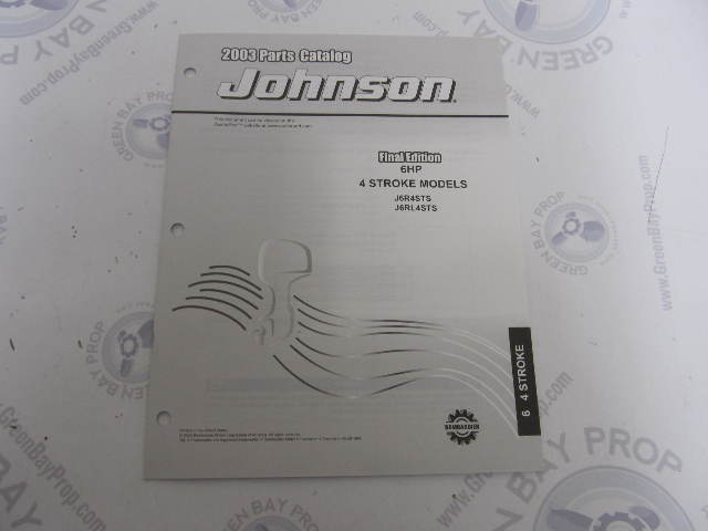5005158 OMC BRP Johnson 6 HP 4-Stroke Outboard Parts Catalog 2003