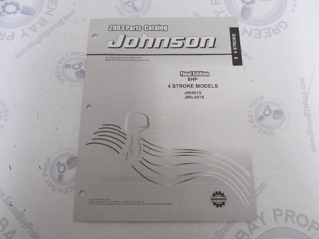 5005160 OMC BRP Johnson 8 HP 4-Stroke Outboard Parts Catalog 2003