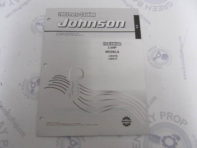 5005331 OMC BRP Johnson 3.5 HP Outboard Parts Catalog 2003