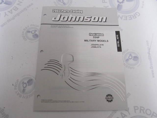 5005632 OMC BRP Johnson 55 HP ML APR Outboard Parts Catalog 2003