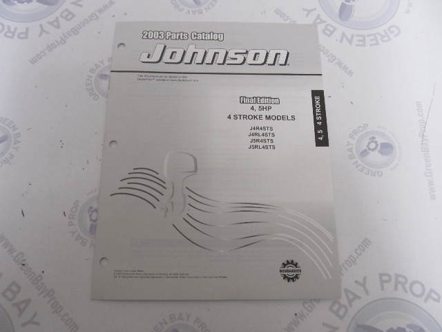 5033317 OMC BRP Johnson 4-5 HP 4-Stroke Outboard Parts Catalog 2003