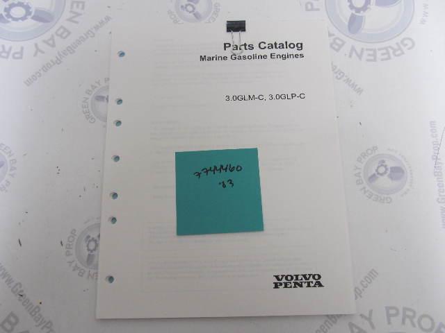 7744460 2003 Volvo Penta Stern Drive Parts Catalog 3.0L GLM GLP