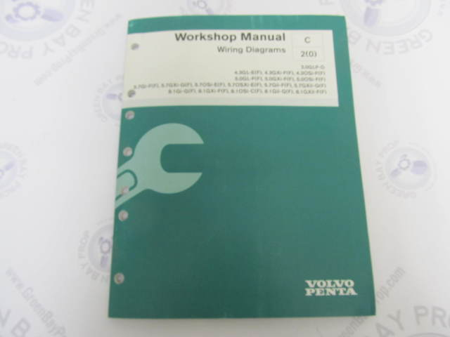 7745609 Volvo Penta Service Workshop Manual Wiring Diagrams