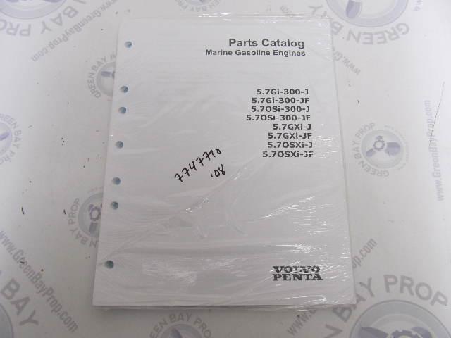 7747710 2008 Volvo Penta Marine Gasoline Engine Parts Catalog 5.7L
