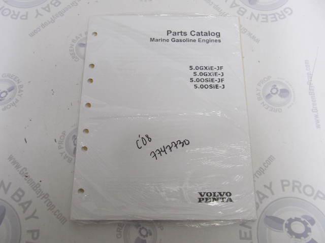 7747730 2008 Volvo Penta Marine Gasoline Engine Parts Catalog 5.0L GXIE OSIE
