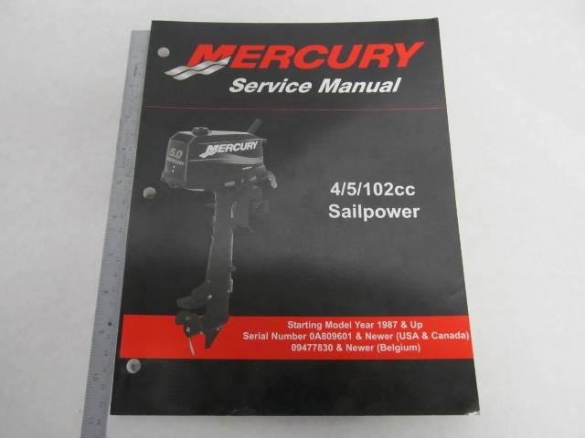 90-17308R02 Mercury Outboard Service Manual 4/5/102cc Sailpower