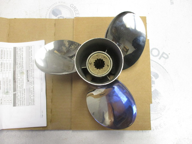 Details about QS5168R Quicksilver Stainless Steel Prop Propeller 10 3/8