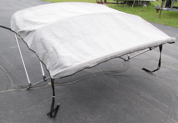 Gray Boat Bimini Top Sun Shade 80 Quot Wide 3 Bow With Storage