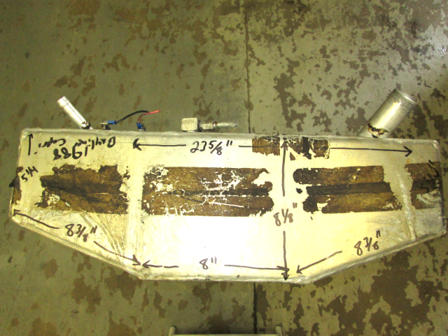 Skyline Aluminum Boat Gas Tank 32 Gallon 46 x 23 5/8 x 8 1/8