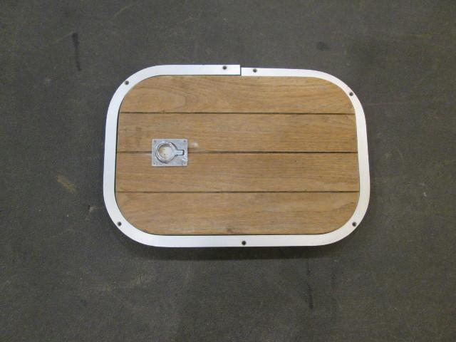 Teak Wood Boat Floor Deck Cover & Aluminum Frame 19 1/2\
