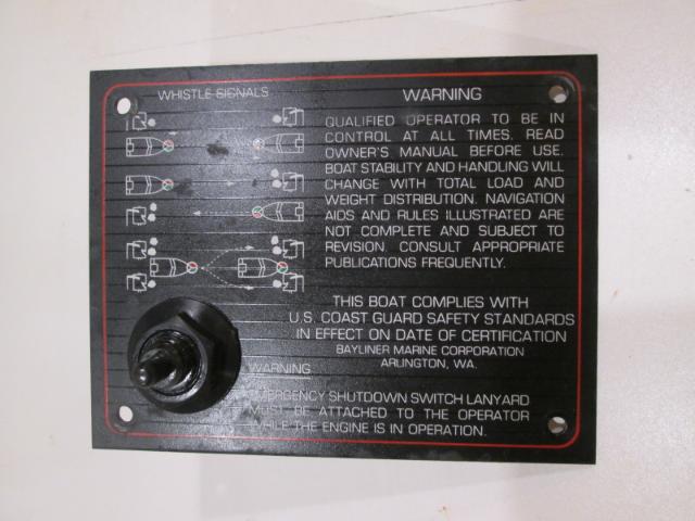 1986 Bayliner Capri Dash Panel Emergency Shutdown Switch W/O Lanyard