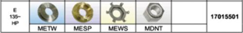 17015501 SOLAS FIXED PRESSED IN PROP HARDWARE KIT for Mercury/Mercruiser 135+