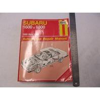1980-1989 Automotive Repair Manual Subaru 1600 & 1800